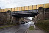 Railroad bridge freight train bypass Metzer Strasse Kirchrode Hannover Germany.jpg