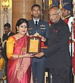 Ram Nath Kovind presenting the Sangeet Natak Akademi's Fellowships (Akademi Ratna) and Sangeet Natak Akademi Awards (Akademi Puraskar) for the year 2016, at the investiture ceremony, at Rashtrapati Bhavan, in New Delhi (2).jpg