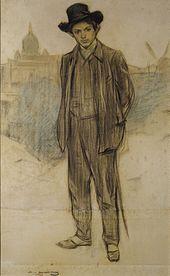 ramon casas pablo picasso 1900 museu nacional dart de catalunya - Pablo Picasso Lebenslauf