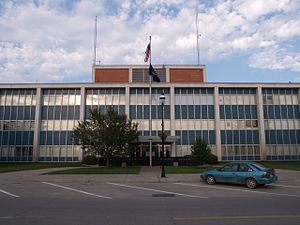 Ramsey County Courthouse in Devils Lake, North Dakota.