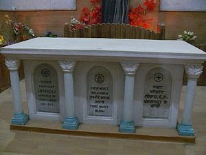 Constant Lievens - Tomb of Fr. Constant Lievens in Saint Mary's Cathedral of Ranchi