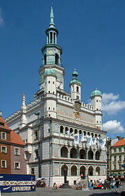 Poznań City Hall rebuilt from the Gothic style by Giovanni Batista di Quadro (1550-1555).