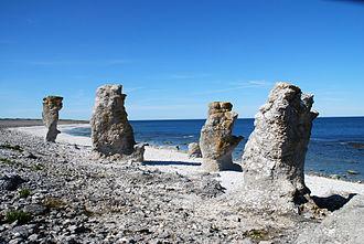Gotland - Rauks at Langhammars, Fårö.