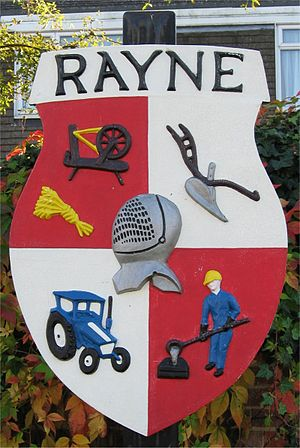 Rayne, Essex - Image: Rayne Village Shield 800 1194