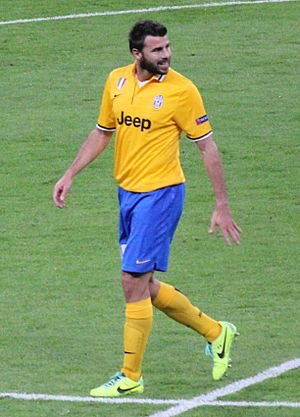 Andrea Barzagli - Barzagli playing for Juventus in 2013