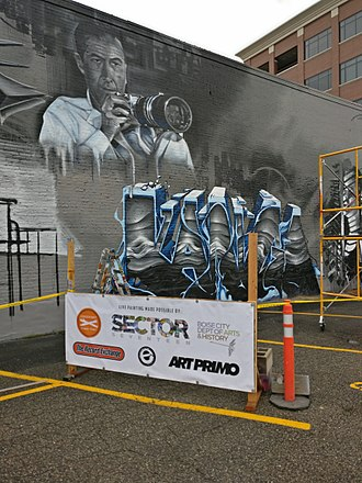Rear Window - 64 years after its release, Rear Window is referenced in public art commissioned for the Treefort Music Fest in Boise, Idaho