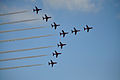 Red Arrows, Southend Air Show 2011. (5773428909).jpg