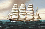 Reginald Arthur Borstel - Portrait of the Four Masted Barque Annie M Reid.jpg
