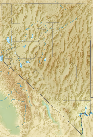 Map showing the location of Ruby Lake National Wildlife Refuge