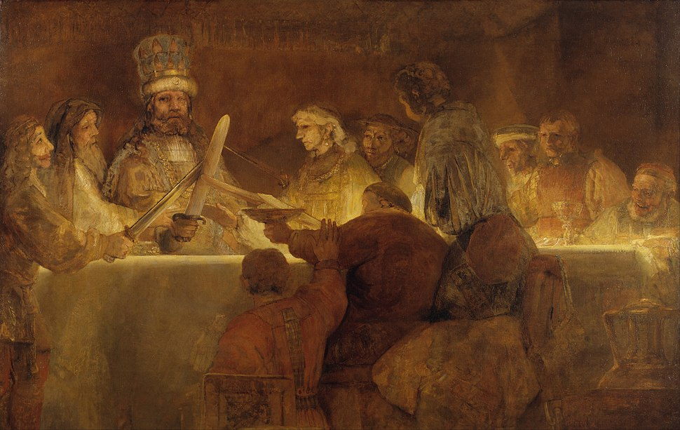 Rembrandt Harmensz. van Rijn - The Conspiracy of the Batavians under Claudius Civilis - Google Art Project