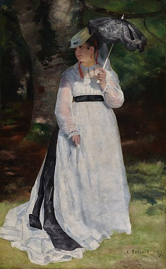 In Summer (Renoir) - Lise with a parasol, 1867