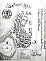 Resens kort over Rønne 1679 (Rigsarkivet).jpg