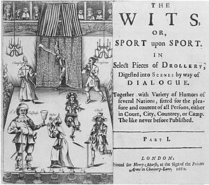 Droll - Frontispiece to The Wits or Sport upon Sport (London, 1662). Attributed to Francis Kirkman.