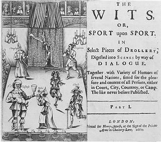 Francis Kirkman - Frontispiece to The Wits or Sport upon Sport (London, 1662). Attributed to Francis Kirkman.