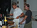 Richard and Michael preparing dinner (2841595155).jpg