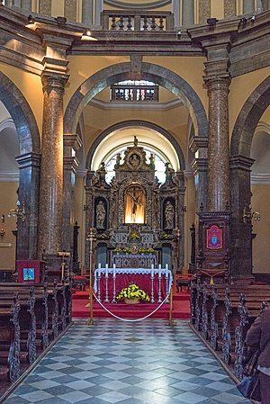 Rijeka Cathedral - Lower interior of the cathedral.