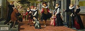 Aert Pietersz - Rich Kids, Poor Parents by Aert Pietersz, Rijksmuseum, 1599