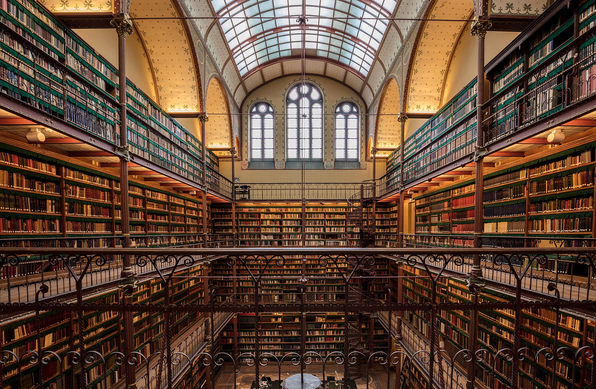 Pierre Cuypers, Library of the Rijksmuseum, 1886, Amsterdam, Netherlands.