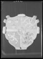 Riksvapen,Vasa-ättens vapen, broderat till kröningen 1561 på beställning av Erik XIV - Livrustkammaren - 36192.tif