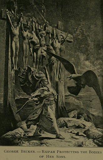 Rizpah - Image: Rizpah painting