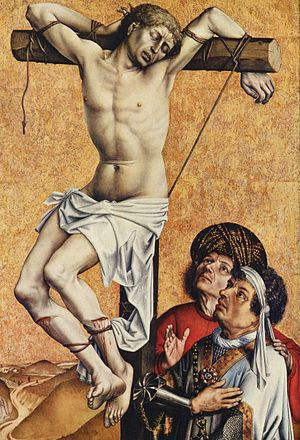 Robert Campin - Thief on the Cross,  fragment from a lost alter, c. 1420, Frankfurt