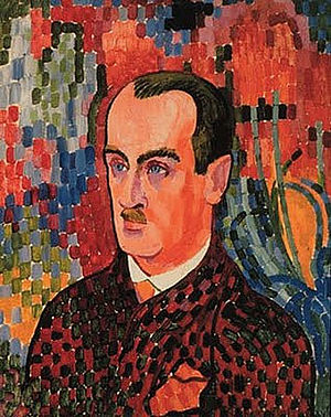 "Wilhelm Uhde - Robert Delaunay, 1907, Portrait of Wilhelm Uhde. Robert Delaunay and Sonia Terk met through Wilhelm Uhde, with whom Sonia had been married as she said for ""convenience"""