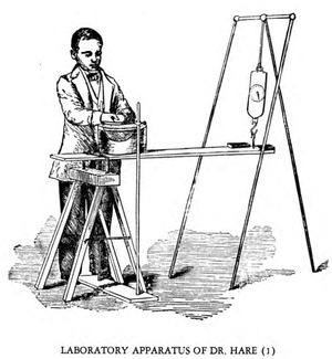 Robert Hare (chemist) - Apparatus that Hare used to test mediums.