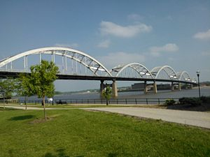 Rock Island Centennial Bridge - Image: Rock Island Centennial Bridge 2012
