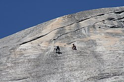 Rock climbers in Yosemite National Park, USA