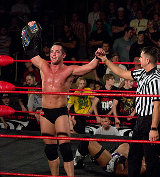 Roderick Strong - Roderick Strong after winning the ROH World Television Championship at Showdown in the Sun in March 2012