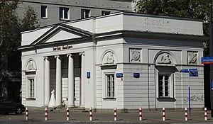 Artur Zawisza Square, Warsaw - Grochów toll-house. Two almost identical buildings stood on what became the Artur Zawisza Sq. until World War II