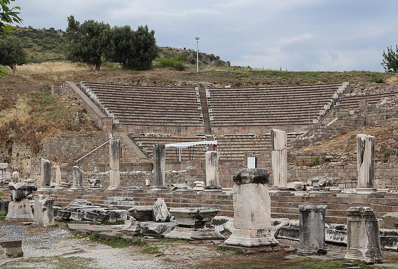 Roman theatre at Pergamon Asclepium 01.jpg