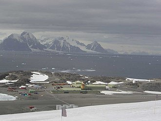 Rothera Research Station - The base in summer, looking southwest