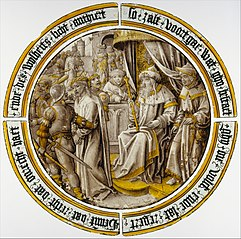 Roundel with Christ Condemned by Pilate