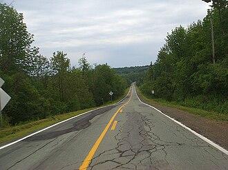 Quebec Route 108 - Route 108 near North Hatley, Quebec