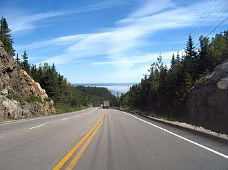 Quebec Route 138 - Route 138 in the Charlevoix region.
