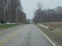 Pennsylvania Route 168 in Hickory Township