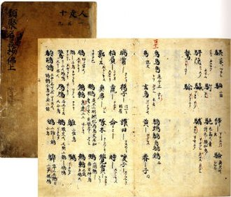 Ruiju Myōgishō - Ruiju myōgishō, located in the Tenri Central Library in Nara, Japan