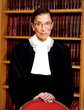 Ruth Bader Ginsburg, U.S. Supreme Court justice.