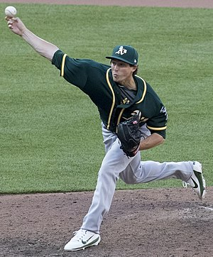 Ryan Dull - Ryan pitching for the Oakland Athletics on 2017