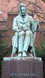The Søren Kierkegaard Statue in Copenhagen.