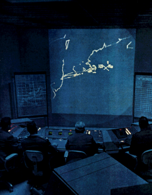 Photographic Display Unit - In the SAGE displays, the imagery was generated by the FSQ-7 computer, not directly from the radar display.