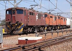 South African Class 6E1, Series 7 - No. E1807 at Kaalfontein, 23 September 2009