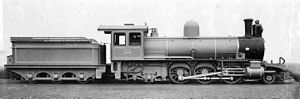 South African Class 6Z 2-6-4 - CGR 6th Class 2-6-2 Prairie as built, before modification to 2-6-4 Adriatic