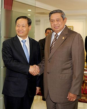 China–Indonesia relations - President Yudhoyono of Indonesia and Peng Qinghua, member of 18th Central Committee of the Communist Party of China, in Jakarta, June 17th, 2013.