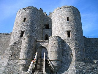 Wales in the Middle Ages - Harlech Castle was one of a series built by Edward I of England to consolidate his conquest