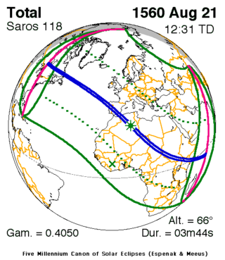 Solar Eclipse Of August 21 1560 Wikipedia