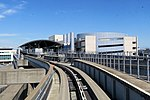 SFO station and Garage G from AirTrain, July 2018.JPG