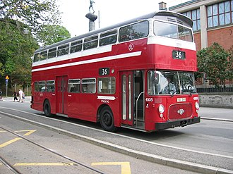 The Laughing Policeman (novel) - The crime scene: a Leyland Atlantean bus.