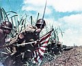 SNLF, 5th Sasebo, Lt Colonel Hatsuo Tsukamoto leading charge, Neu Guinea 1942.jpg